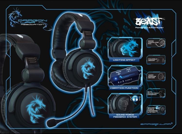[VERDE] READY STOCK Elephant Dragon War Beast Gaming Headset + Soundcard BNIB