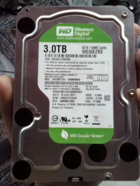 WD Green 3 TERA, Sata III 64 MB Cache Masih Garansi