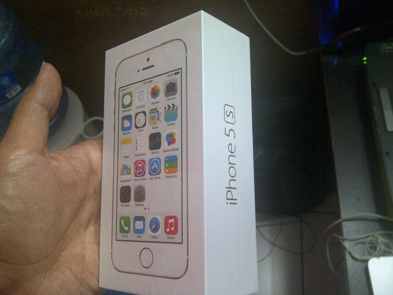IPHONE 5S GOLD 16GB RESMI SES NEW SEGEL BOX BANDUNG