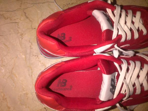 Terjual (Second)Sepatu New Balance 574 Full Red Replika Import Size ... fb5b69886b