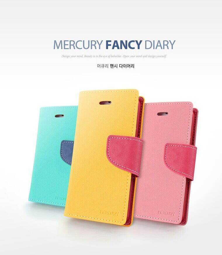 Mercury Fancy Diary case untuk : Vega R3 Galaxy S3 Galaxy S4 Galaxy grand I