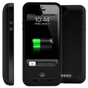 Power Case Plus Charging Case for Apple iPhone 5 ONLY - BLACK (2200mAh)