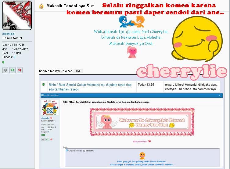 Cherrylie Diary o(^_~)o latihan & arsip o(~_^)o