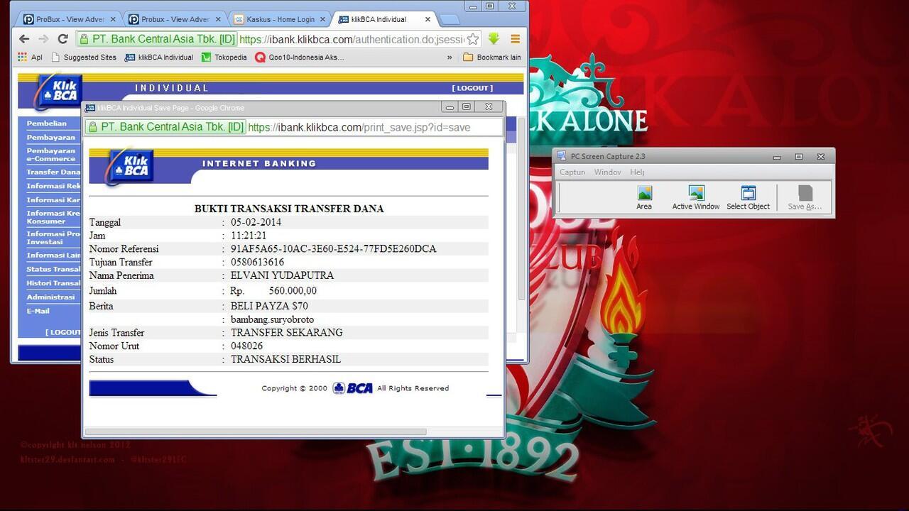 Surat Terbuka buat ID VieQ26 rek BCA no. 0580613616
