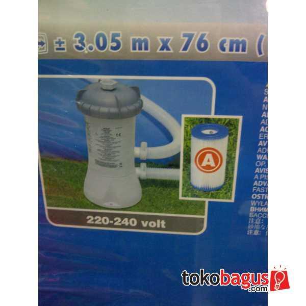 Kolam Renang Besar Easy Set Merk Intex Dgn Filter