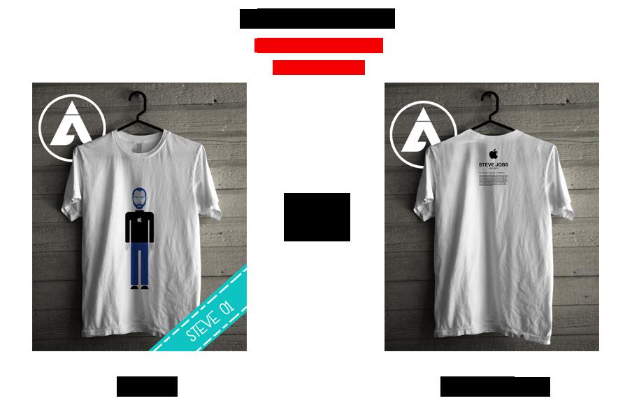 T-shirt/Kaos Steve Jobs malang