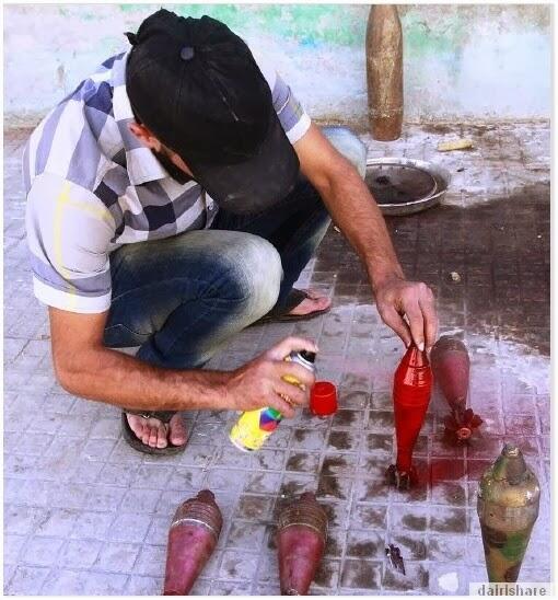 [AMAZING] Begini Cara Pembuatan Senjata Pejuang Syria [FULL PIC]!!!
