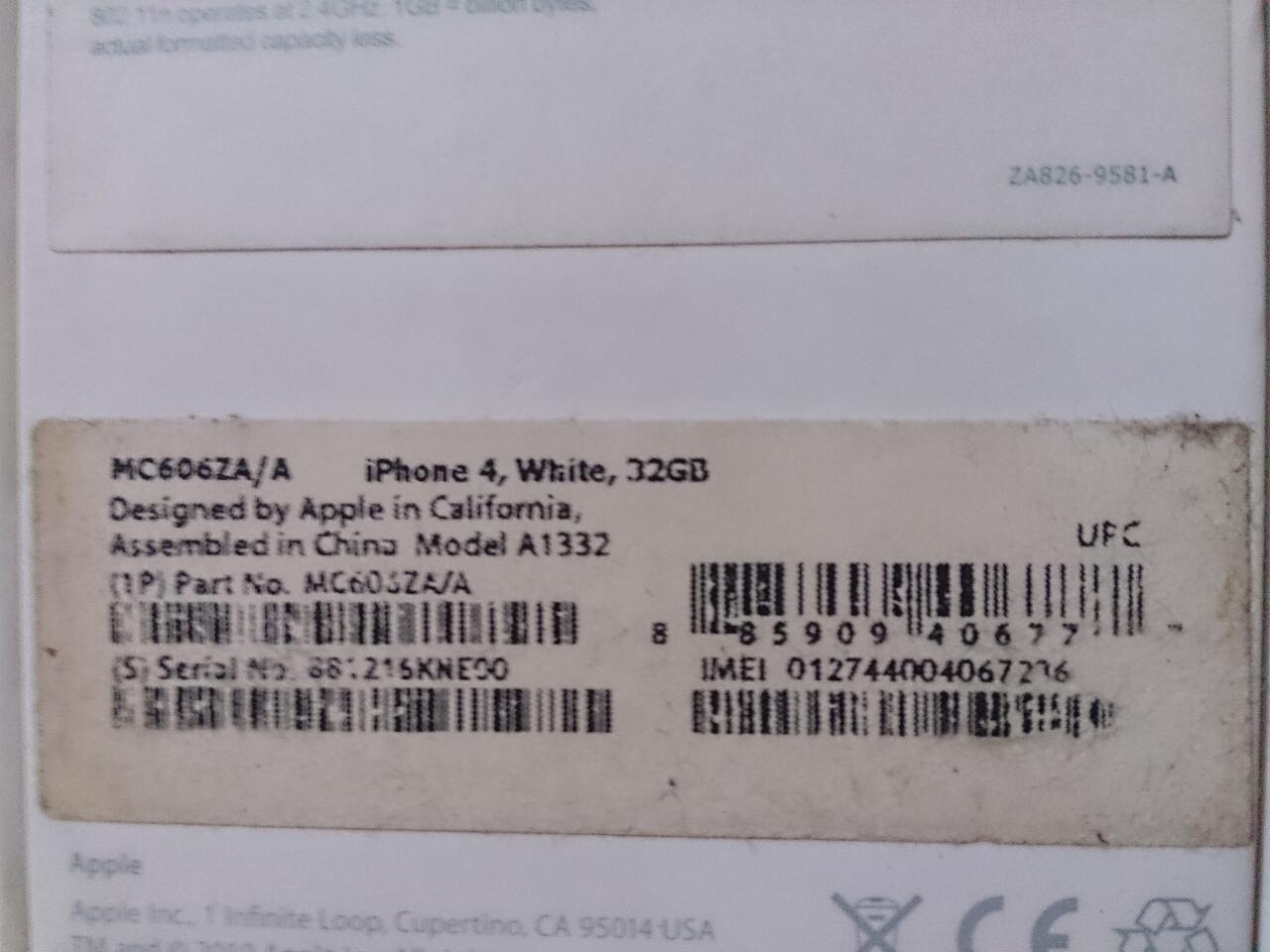 jual cepat iphone 4 GSM || 32gb || white|| murah || fullset || FU || BONUS MEWAH