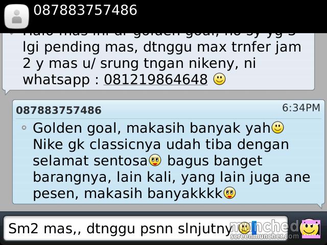 Terjual GOLDEN GOAL INDONESIA - Sepatu futsal Adidas, Nike