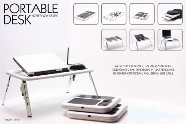 MEJA LAPTOP PORTABLE LIPAT | ETABLE | PORTABLE DESK NOTEBOOK w/ COOLING FANS
