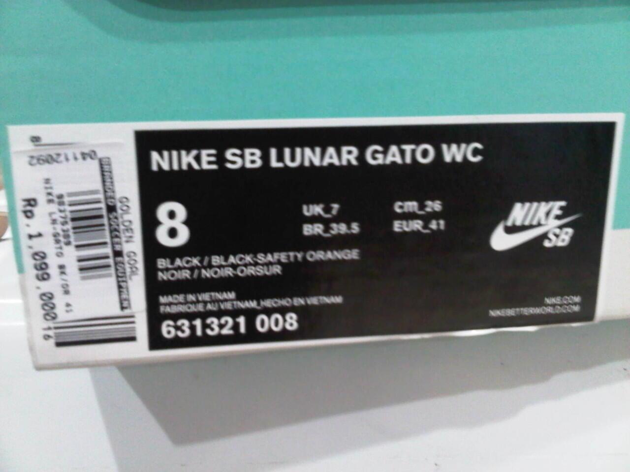pretty nice 87a5a 0045a Sepatu futsal Nike SB Lunar Gato WC ORIGINAL, Termurah