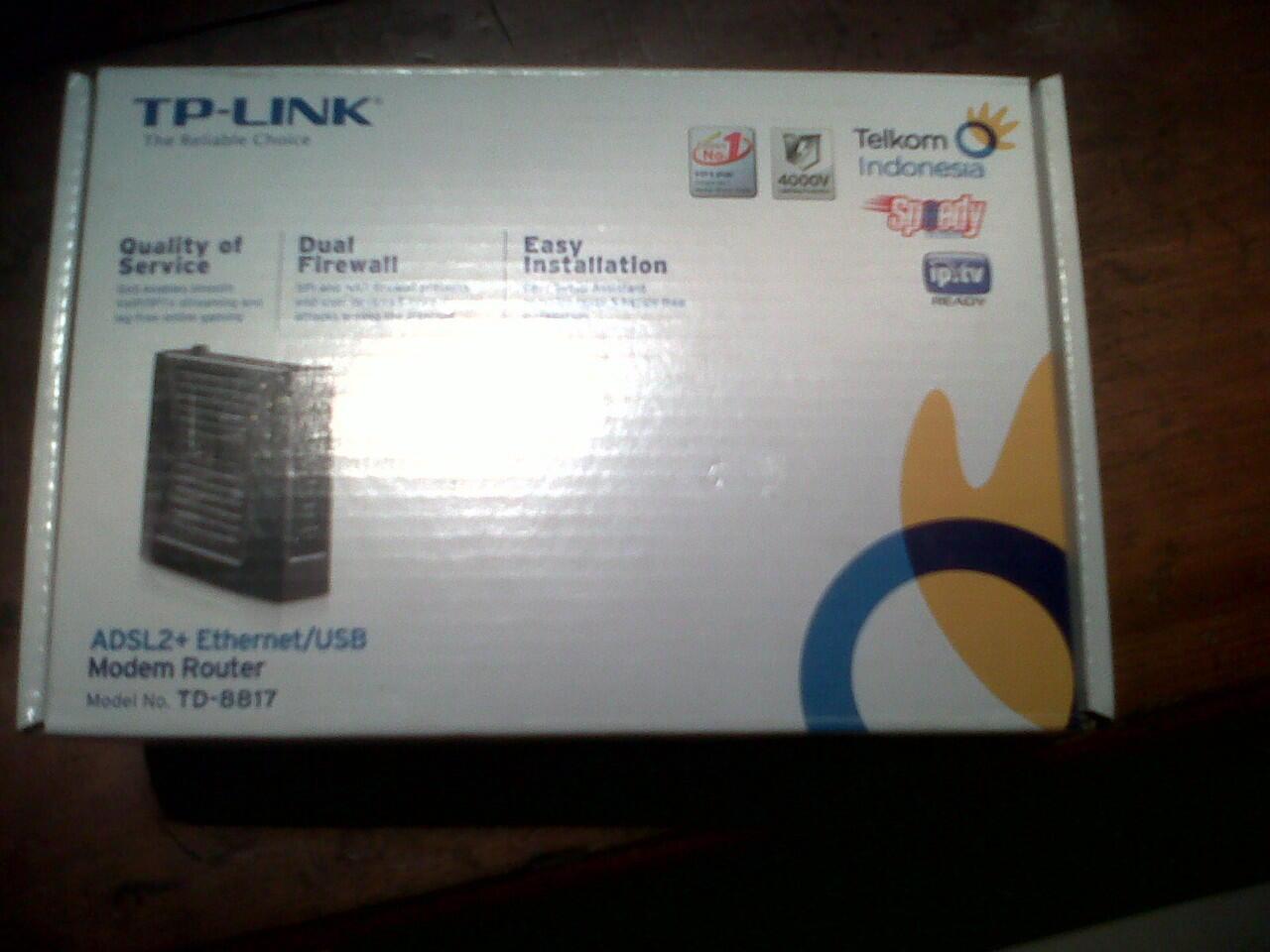 ADSL 2+ Ethernet/USB Modem Router TD-8817