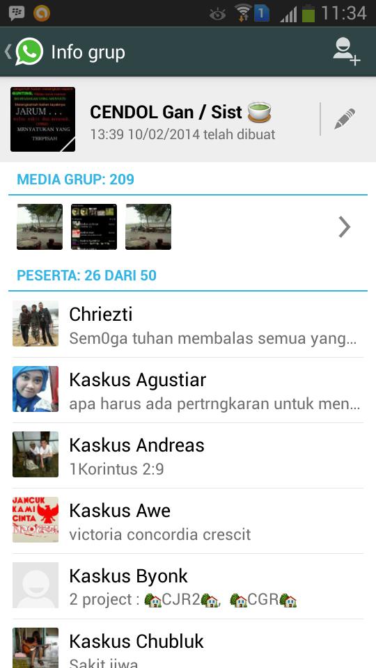 Grup WHATSAPP ( WA ) isi'a anak2 KASKUS