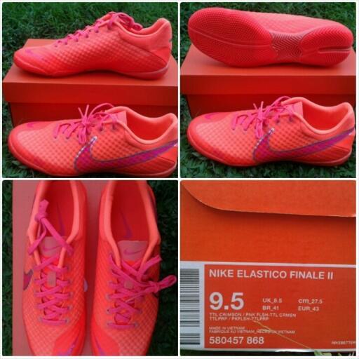 Original  jual sepatu futsal nike elastico finale II nike davinho Total  Orange 475d3a5cae