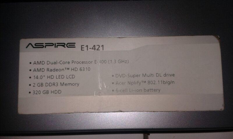 "JUAL MURAH LAPTOP ACER E1-421 14"" INCH WITH VGA ATI RADEON E6310"