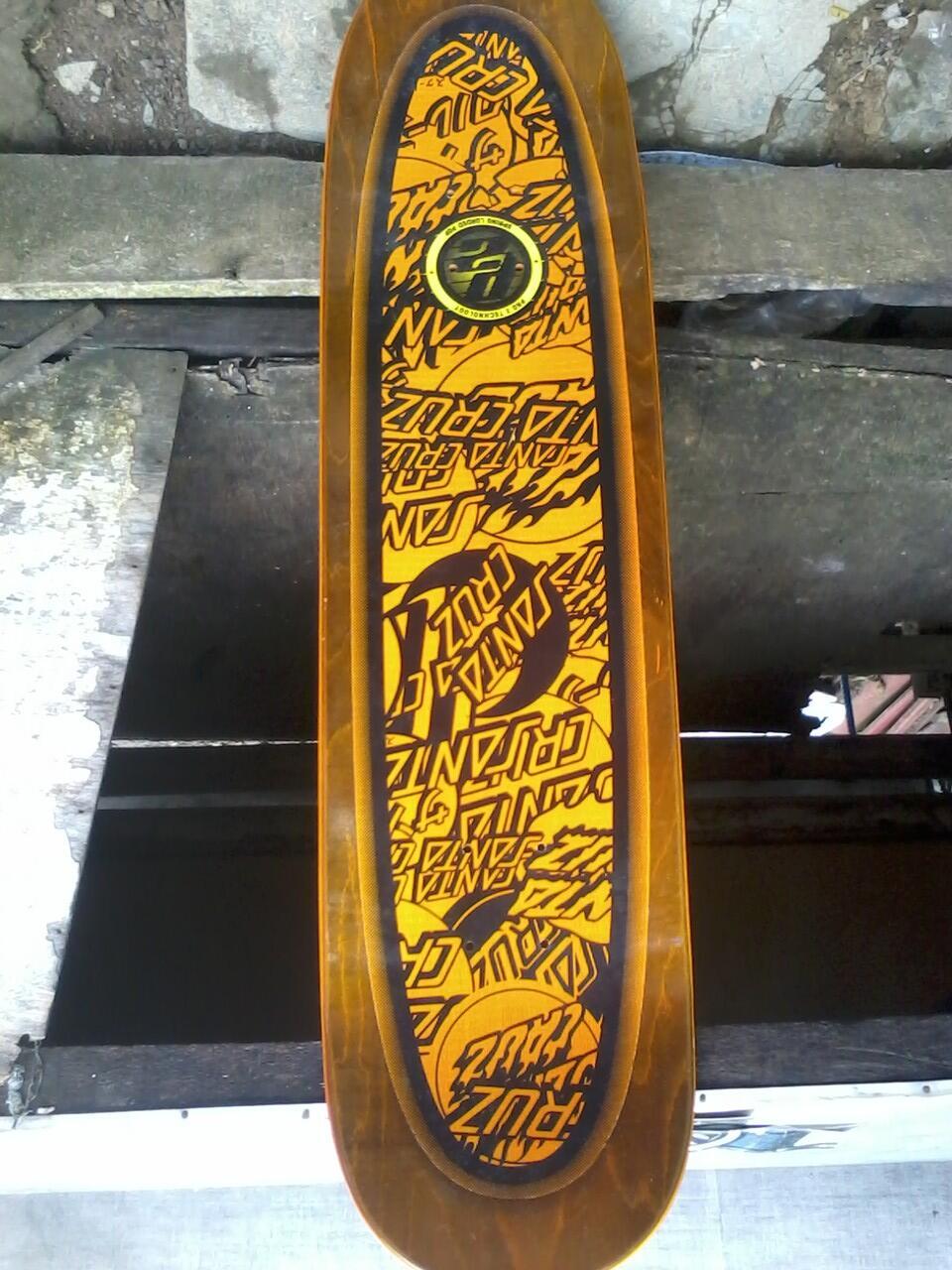 deck skateboard santa cruz pro model gusman
