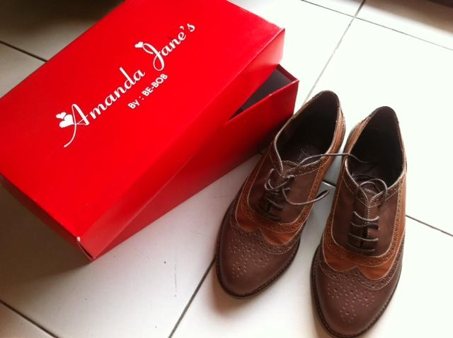 WTS AMANDA JANE'S LOCAL BRAND LONGWING SHOES (BRAND NEW)
