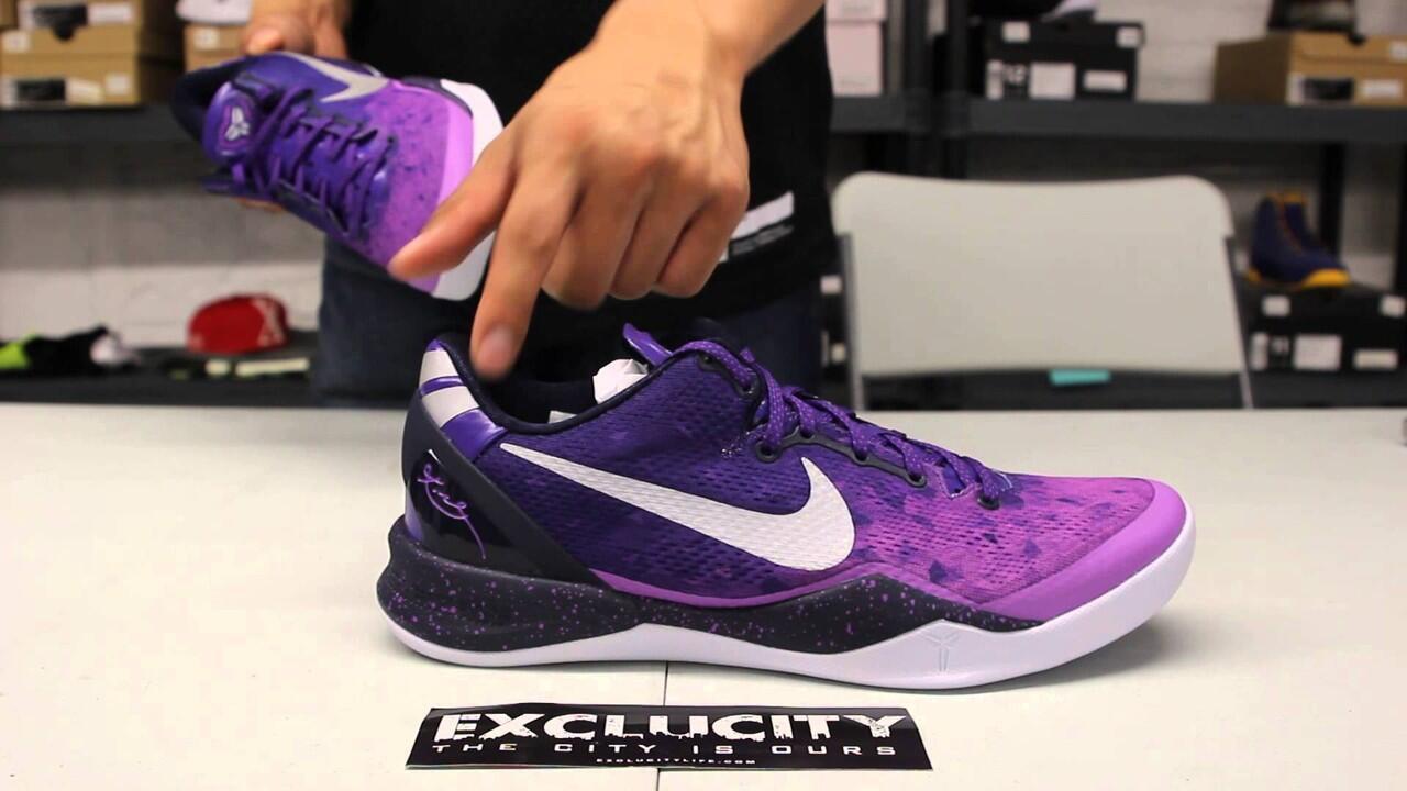 purchase cheap d0ce8 01bbc ... Sepatu basket nike kobe 8 purple gradient ...