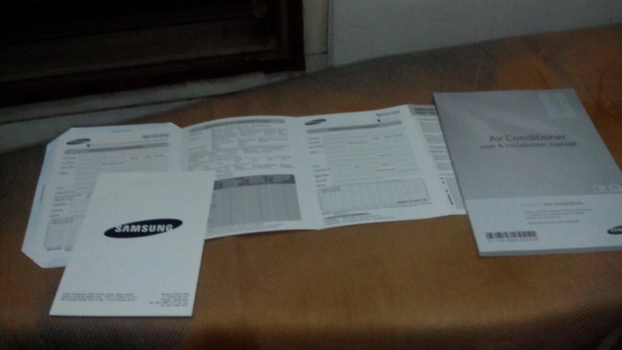 Dijual Air Conditioner Ac Samsung 1PK AS09TSMN like new !!!