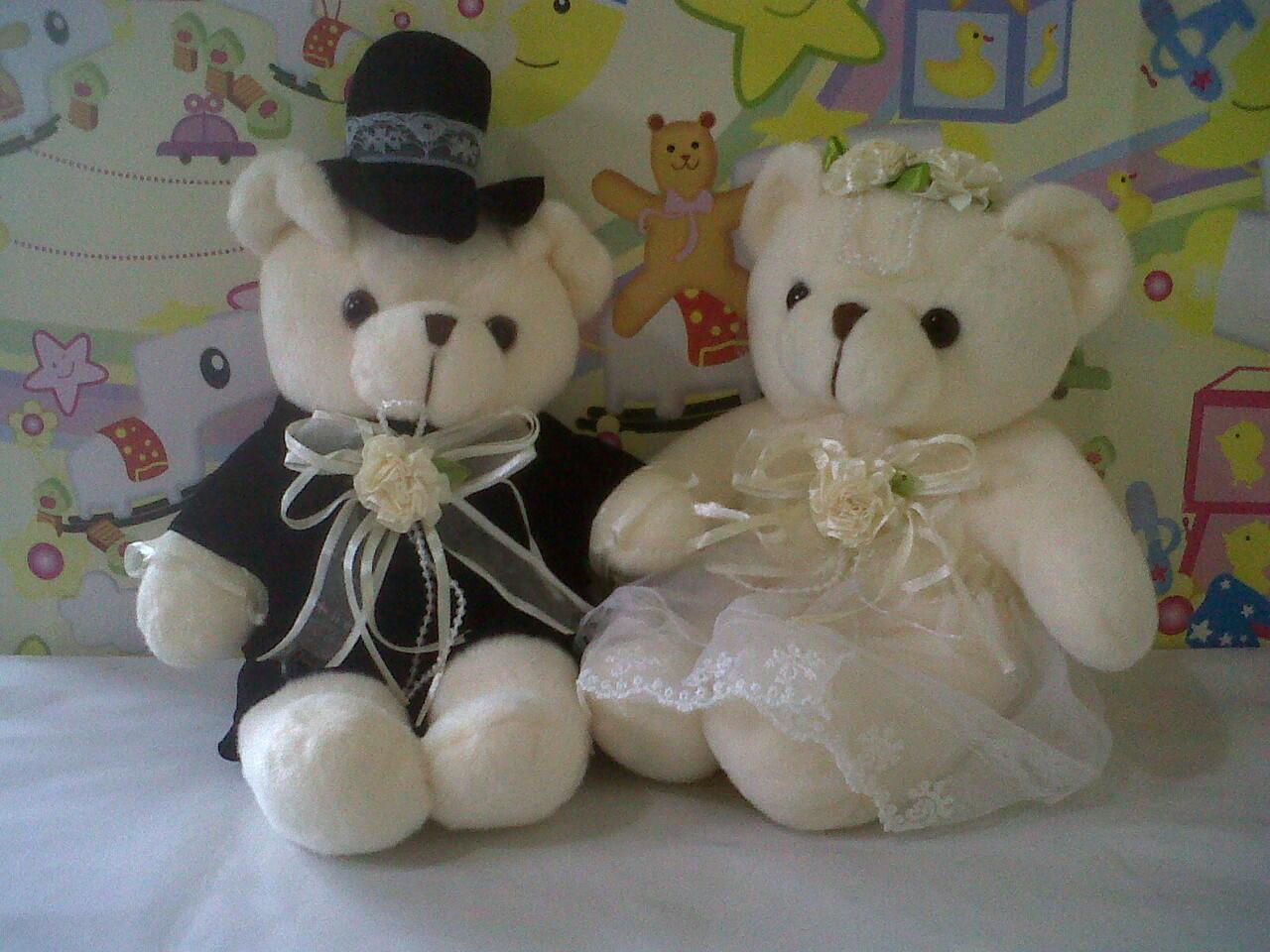 Terjual BONEKA BEAR PENGANTIN - BONEKA BEAR WEDDING - BONEKA COUPLE ... 8109800a80