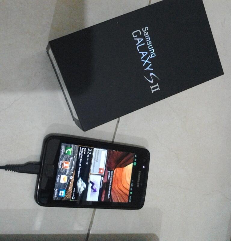 Samsung Galaxy SII GT-I9100 Black Fullset