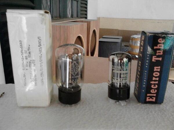 Rectifier Tabung NOS Mullard GZ34 & Telefunken GZ32