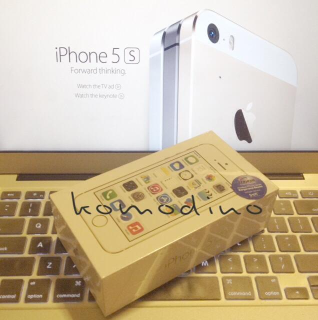di jual NEW iPhone 5s GOLD 16GB, Garansi TAM (erajaya) / iBox, MURAH