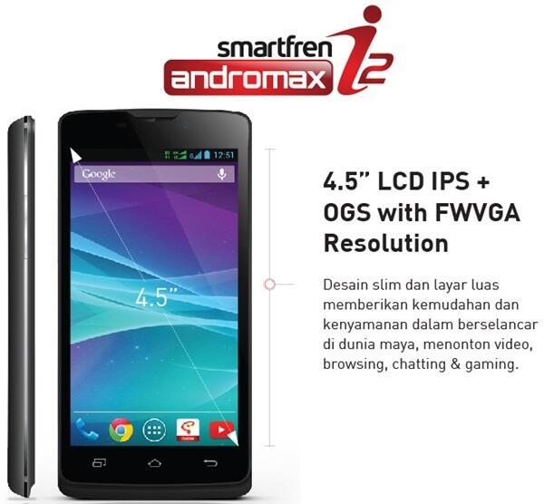 Smartfren Andromax I2 - Black