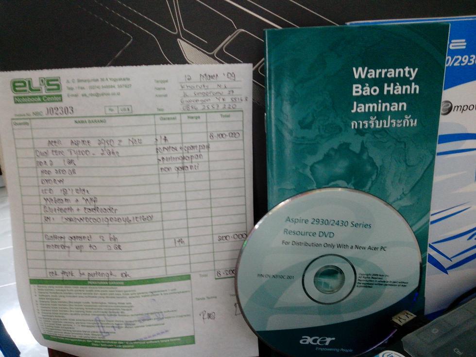Jual Laptop Acer ASPIRE 2930Z 2nd JOGJA / YOGYAKARTA