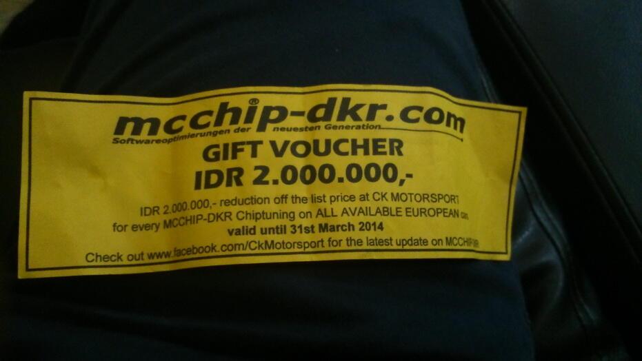 JUAL Gift Voucher CK Motorsport Rp 2.000.000 (Jakarta)