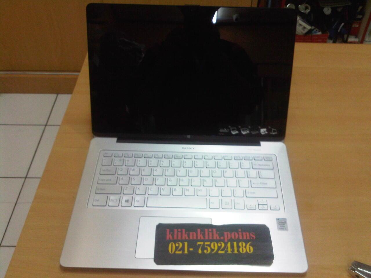jual laptop SONY Vaio Flip 14 Touch SVF14-N16SGS, Silver kaskus @kliknklik.poins