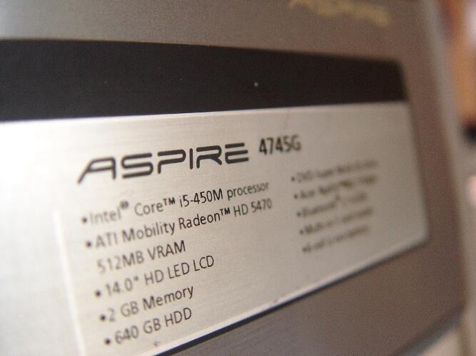 [GAMING] ACER 4745G core i5 | hdd640 vga ATIRADEON | bandung