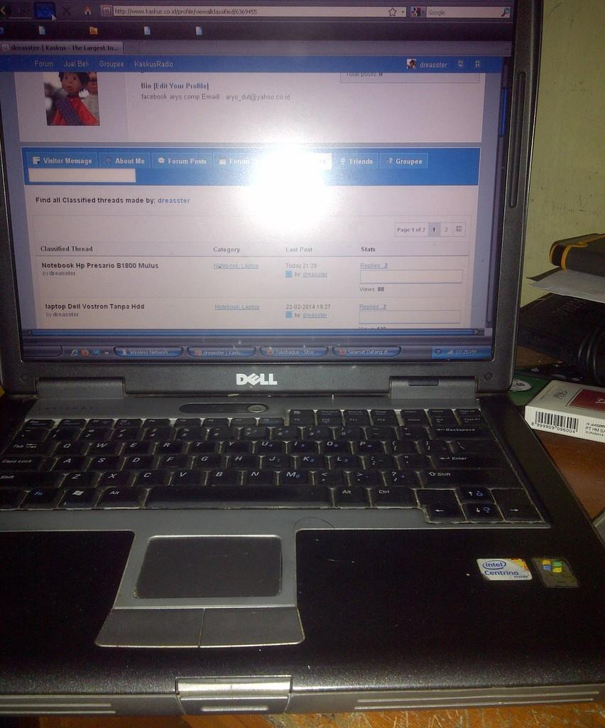 Laptop Dual Core Dell Latitude D520