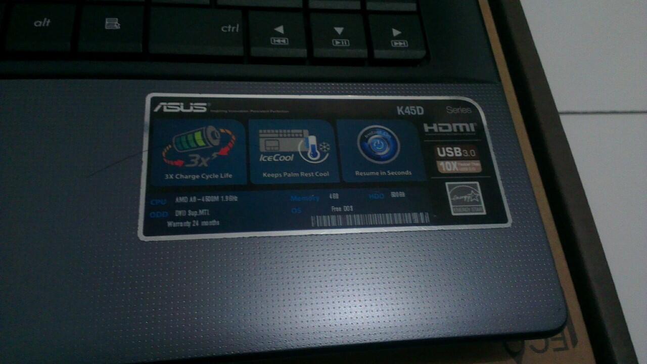 Notebooks & Ultrabooks / Laptop Asus K45DR ram 4BG double VGA Gaming abis dah