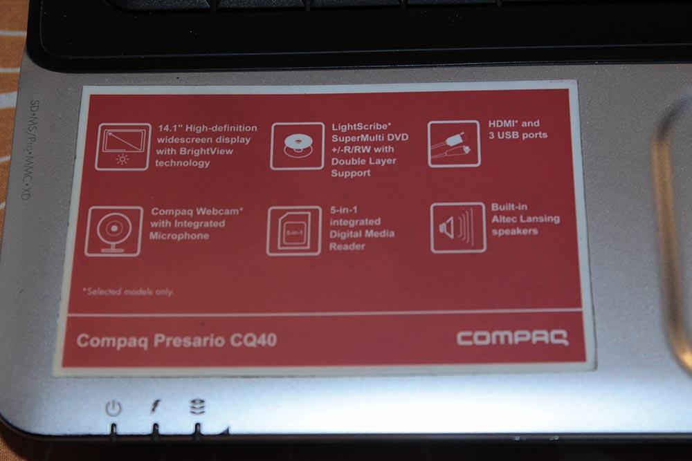 Best Offer Notebook Compaq Presario CQ40