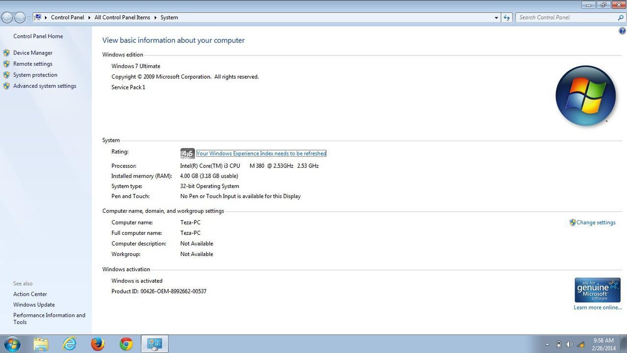 Notebook Lenovo Ideapad Z360 Mulus Ajib Core I3 (Sandy Bridge), RAM 4GB, HDD 500GB