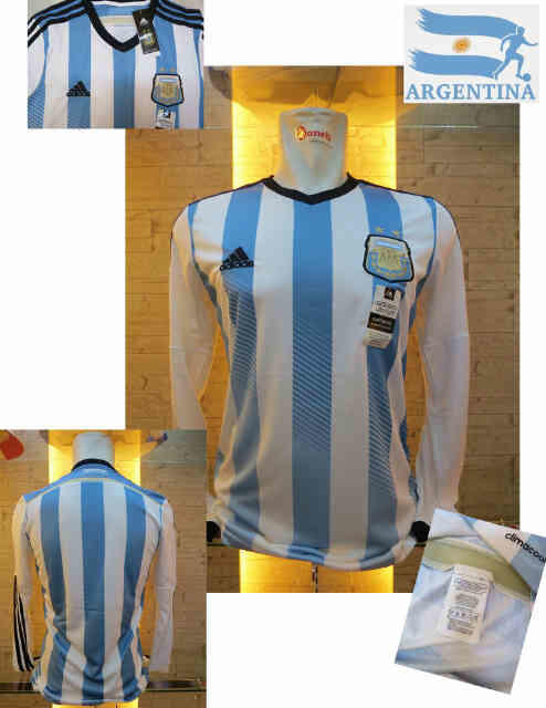 JERSEY ARGENTINA HOME LS WORLD CUP 2014 NEW OFFICIAL GO