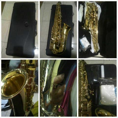Jual Alto Saxophone LACQUER ABS with hardcase, kualitas bagus harga murah