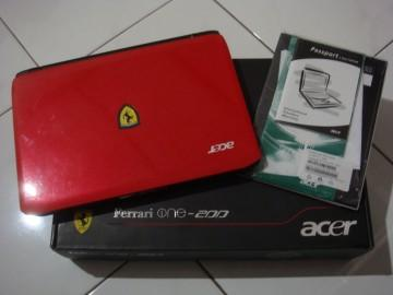 LAPTOP NETBOOK ACER Ferrari One-200 AMD® DUALCORE RAM 2GB HD 320GB