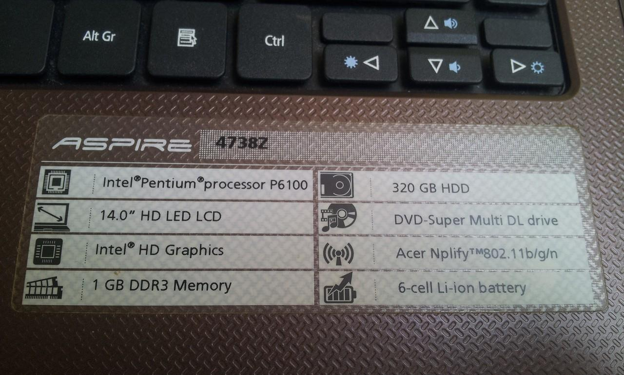 Laptop Acer 4738z P6100 (Solo...)