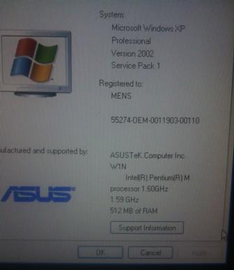 Jual Laptop Asus W1000 [build in tv support]