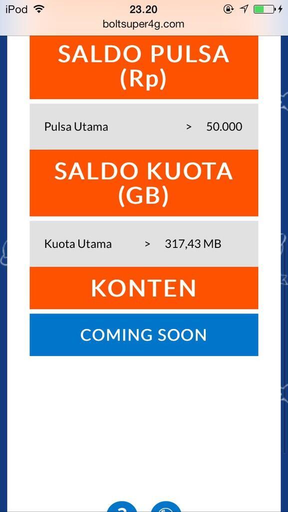 Mifi aka wifi portable bolt 4G LTE jual murah