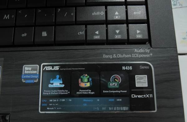 ASUS N43SL i3