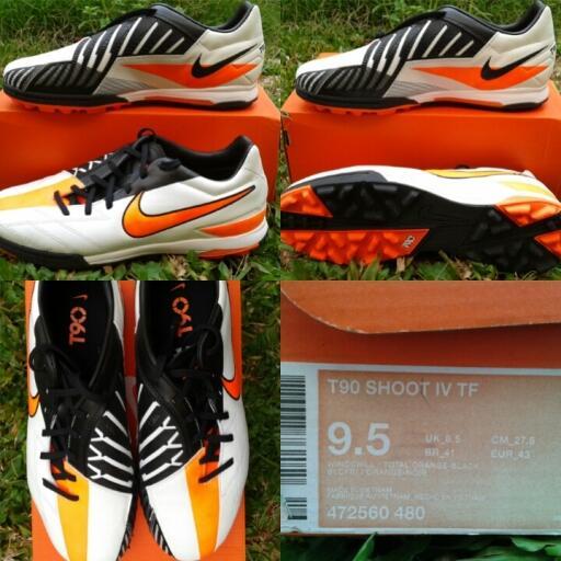 Terjual sepatu futsal nike T90 shoot IV TF original murah banget ... 5e7dffa385
