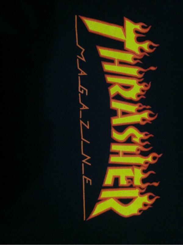 WTS Tees Thrasher Flame logo Black original