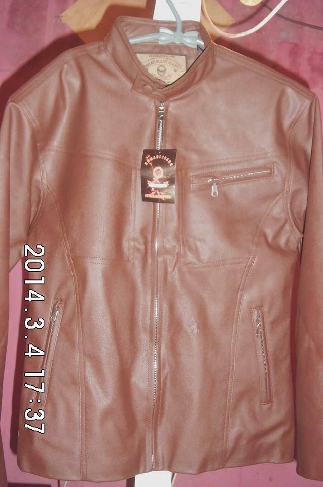 Jaket kulit imitasi