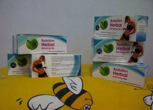 Body slim herbal capsule, teh, dan lotion pelangsing tubuh