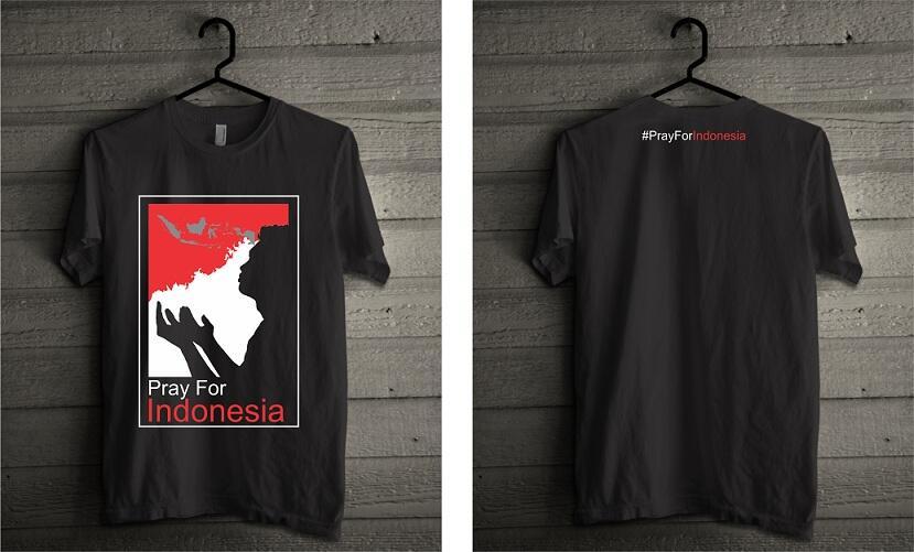 Kaos Pray For Indonesia #PrayForIndonesia