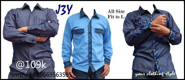 Kemeja Soft jeans + Batik, handmade J3Y
