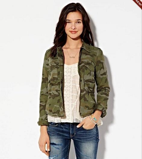 Original Branded: American Eagle Camo Jacket (Woman)